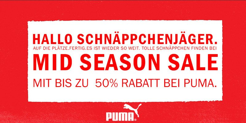 PUMA Mid Season Sale